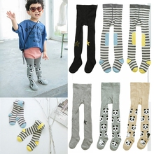 Girls Cotton Tights Child Pantyhose Toddler Print Pants Boys Girl Stockings Fall and winter children baby pantyhoses 2017 new(China)