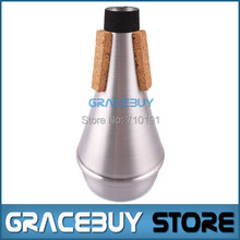 Trumpet Practice Mute Professional Silver Aluminum Straight Trumpet Cornet Silencer - Brand new Free shipping