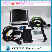 Super MB Star C5 with Laptop MB Star SD C5 SD Connect Wireless+V2017.09 HDD(DTS) Software Das XENTRY Vediamo With CF-19 Laptop(China)