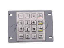 IP65 Metal Keyboard Waterproof Stainless Steel Keyboard Numeric Keypad With 16 Keys For Industrial Kiosk Membrane Keypad