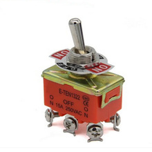 1Pcs Hot Selling 6-pin Orange DPDT DC Moto Reverse ON/OFF/ON Toggle Switch