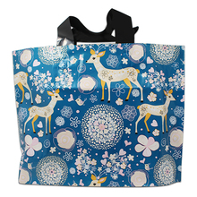 250Pcs 3 Design Deer Eiffel Towel Printed Plastic Shopping Bag With Handle Gift Merchandise Clothes Packing Package 3 Sizes(China)