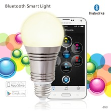 Bluetooth Smart LED Light Bulb Smartphone Controlled Dimmable Multicolored Color Changing Lights Works with iPhone iPad Apple(China)