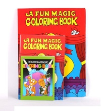 Free Shipping Large Size Funny Coloring Book Comedy Magic Books Close-up Street Magic Tricks Grimoire Spellbook Child Puzzle Toy