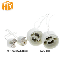 Lamp Base GU10 /MR16 & G4 & GU5.3 Ceramic Socket With Cables Wire Lamp Holder 5Pcs(China)