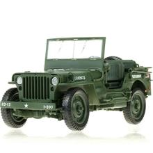 High simulation Military World wars II 1:18 scale mini Willis tactical Jeep off-road vehicle diecast cars alloy pull back toys