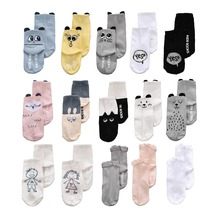 Infant Baby Boy Girl Cotton Socks Floor Anti Slip Cartoon Animal Cute Pattern Newborn Baby Socks For 0-2 Years(China)