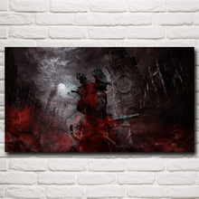 Bloodborne Blood Video Game Art Silk Fabric Poster Prints Home Wall Decor Printing 11x20 16x29 20x36 Inch Free Shipping