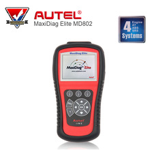 100% Original AUTEL MaxiDiag Elite MD802 4 system + DS Model +EPB+OIL Service Reset data stream (MD701+MD702+MD703+MD704)