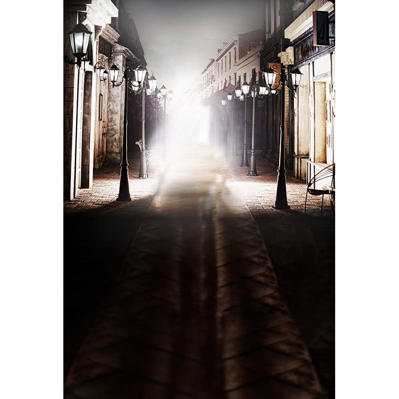 Street lamp post photography background city night scene photo backdrop for photo studio props photophone CM-6597<br>