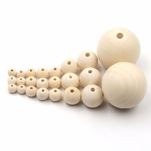 YUMUZ 10 Size 50pcs Unfinished Wooden Beads Natural wood  teething beads  jewelry making handmade