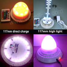 DHL Free Shipping Factory Wholesale Super Bright remote colors change Led bulb with battery for cube chair table(China)