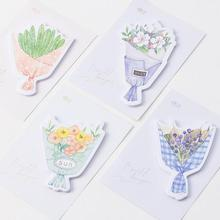 Romantic Bouquets For You Self-Adhesive Memo Pad Sticky Notes Post It Bookmark School Office Supply(China)