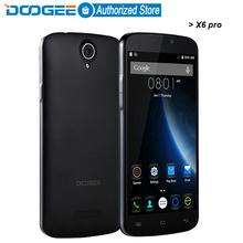 Clearance sale DOOGEE X6 pro mobile phones 5.5Inch HD 2GB RAM+16GB ROM Android5.1 Dual SIM MTK6735 Quad Core 5.0MP GSM WCDMA LTE