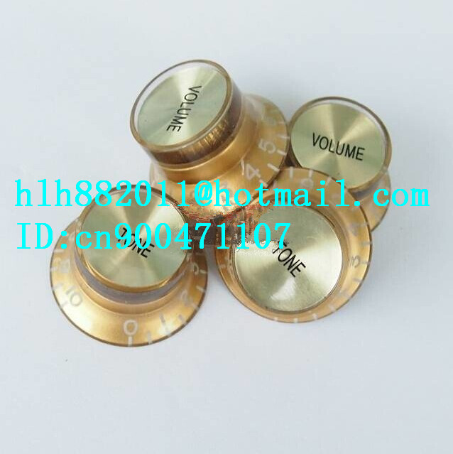 free shipping new  electric guitar and bass 2 tone and  2 volume electronic Control Knobs cap   DM-8067<br>