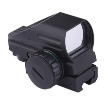 4 Reticle Tactical Reflex Red/Green Laser Holographic Projected Dot Sight Scope Airgun Rifle Sight Hunting Rail Mount 20mm
