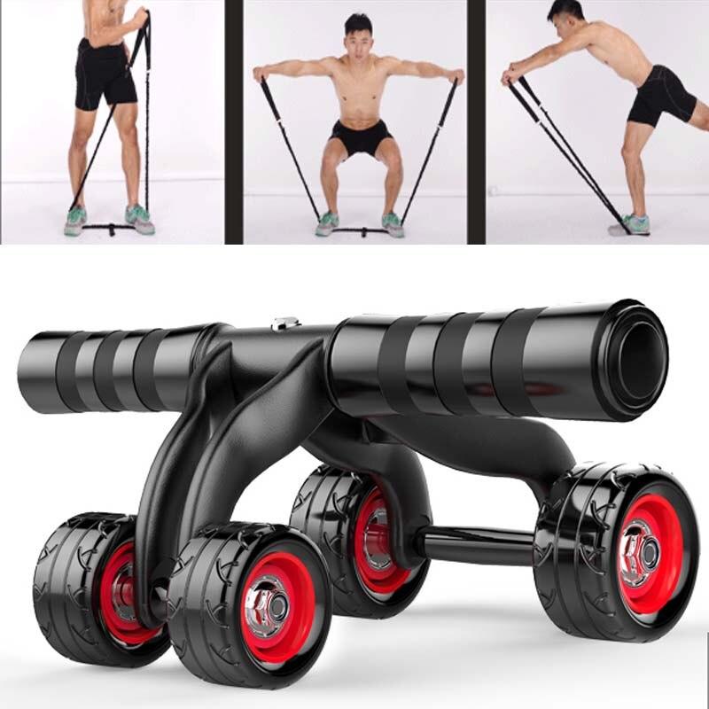Ab Roller Rad Bauch Trainer Rad Arm Taille Übung  Bauchwiderstand Fitnessgeräte
