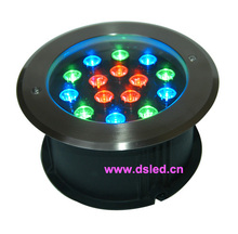 CE,Stainless steel,IP68,high power 15W RGB recessed LED pool light, RGB underwater LED light,DS-11S-22-15W,15X1W,D220mm,24V DC