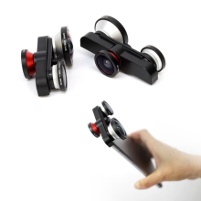 Detachable Professional 4 in 1 Fish Eye Macro Super Wide Self-timer Fisheye Mobile Phone lenses Kit Camera