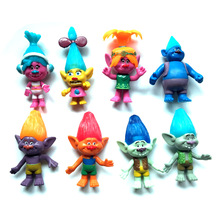 New 8PCS/SET Magic wizard Bobby Blanc Su Crick Genuine troll dolls 11cm original magic wizard plastic oyuncak christmas gift
