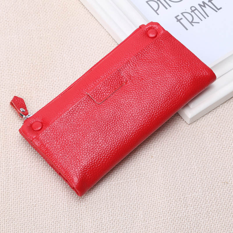 Big Capacity Wallet Soft First Layer Cow Leather Wallets Real Genuine Leather Lady Women Wallet Clutch Bag Zipper Purse741<br><br>Aliexpress