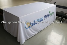 6' ,  three sided Table cloth, table cover, table throws with customs LOGO printing, indoor and outdoor use, free shipping