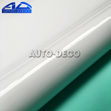 Wholesale White Glossy Vinyl Sticker Car Wrap Film Sheet For Car Cover Color Change With Air Bubble Free Size1.52*30m/roll(China)