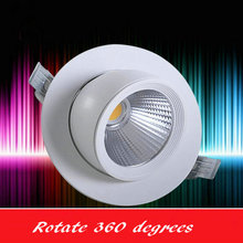 Free shipping Rotate 360 degrees 12W 15W COB LED Downlight all with power Driver COB LED Down Light discount chandelier Ceiling(China)
