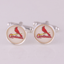 Cardinals NY Kansas City Royals Boston Red Sox Chicago Cubs CUFFLINKS Sport Team Logo Basketball NEW GIFT BAG Groom Wedding(China)