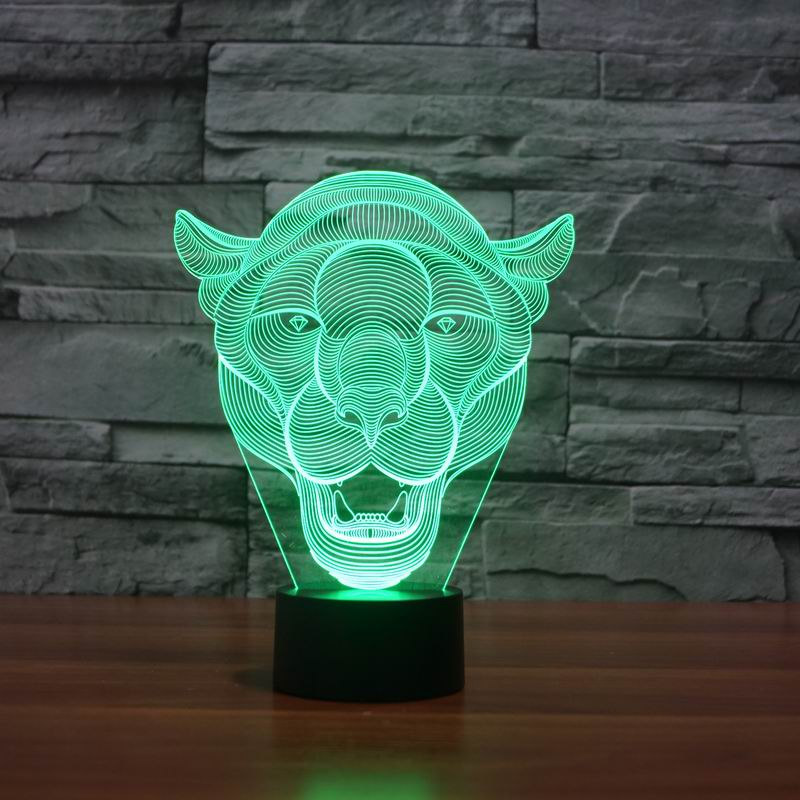 Lion Face 3D LED Light 6