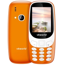 Original Vkworld Z3310 Quad Band Unlocked Phone 2.4 Inch BT 2.0MP Loud Speaker FM Radio LED Light 1450mAh Battery Cellphone