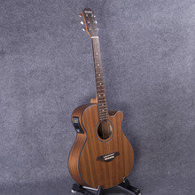 Wood color guitars 40-44 40 inch Sapele wood Electric Acoustic Guitar Rosewood Fingerboard guitarra with guitar strings