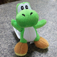 "New Super Mario Bros Green Yoshi Key Chain 4"" Soft Toy Plush Doll Stuffed Animal"