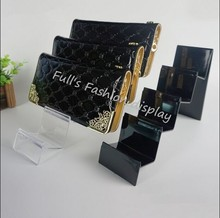 10pcs 3MM thickness high quality four-layers acrylic wallet display holder cell phone jewelry purse display rack stand J017(China)