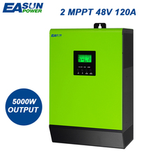 EASUN POWER 5000W Grid Tie Inverter 2 MPPT 220V 48V 120A Hybrid Solar Inverter 50Hz Pure Sine Wave Inverter 60A Battery Charger