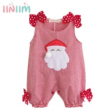 Buy Cute Kids Infant Newborn Baby Summer Christmas Party Costumes Santa Claus Plaid Romper Clothes Toddler Boys Girls New Year Gift for $7.98 in AliExpress store