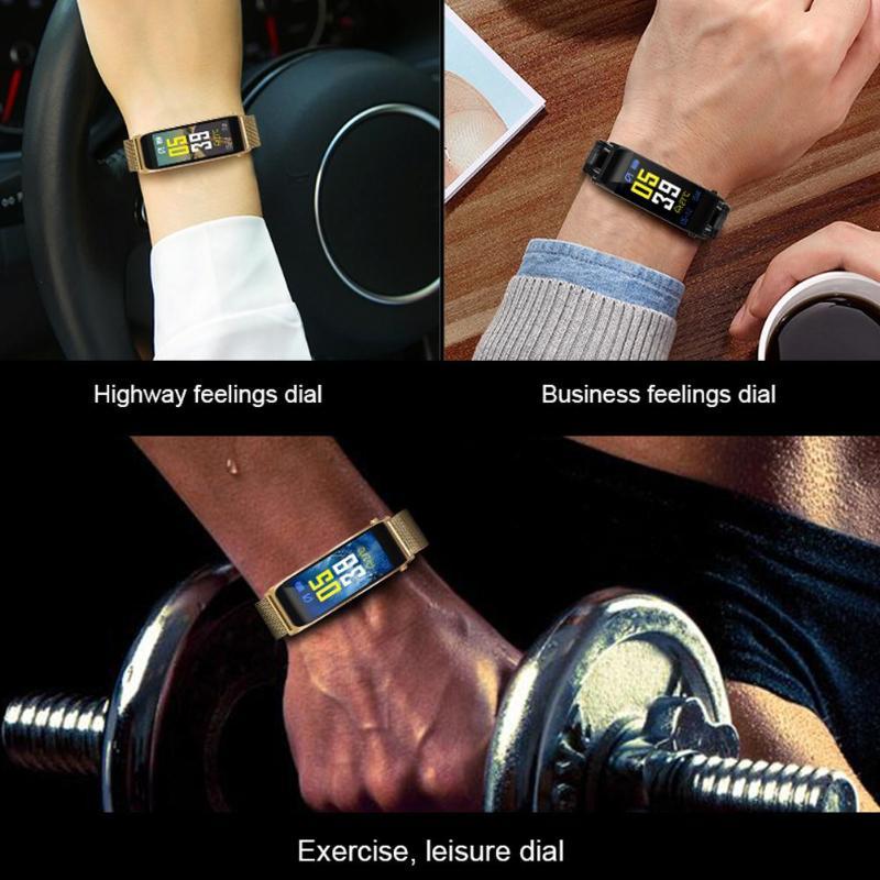 ALLOYSEED Bluetooth Smart Bracelet Watch Handsfree Call Music Player Sport Wristband Headset Fitness Tracker Heart Rate Monitor 8