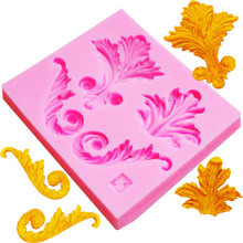 M416 European Retro Flower Relief Mold Fondant Mold, Jelly,Candy, Chocolate Soap Mold, Decorating Bakeware 9*8*1CM