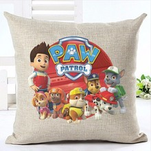 New Paw Patrol Cushion Cover Skay Pillows Dog and boy Cartoon Movie Sofa Pillow Case Office Chair Home Decor Chlidren Kids Gifts(China)
