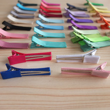 LINED Clips 1.75 inch Single prong hair clip Hairpins Hair Barrettes Baby Clips DIY hair bow supply Hair Accessories 200pcs/lot(China)