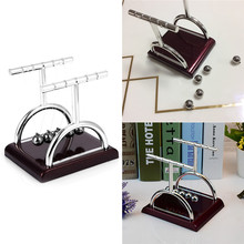 Sale Early Fun Development Educational Desk Toy Gift Newtons Cradle Steel Balance Ball Physics Science Pendulum Office Decor