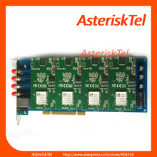 Asterisk GSM card,with 4 GSM modules,Supports Asterisk FreePBX Elastix,For GoIP GSM Router PABX GSM pbx system VoIP Router(China)