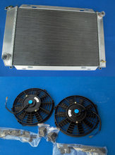 52MM Aluminum Radiator & Fans for FORD MUSTANG GT / LX 5.0L V8 302 1979-1993 new 79 80 91 92 93(China)