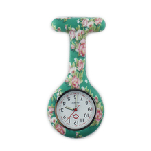 Country Rose Color silicone brooch watch nurse fob pocket watch nursing gift quartz hospital clock for nurse doctor ALK VISION(China)