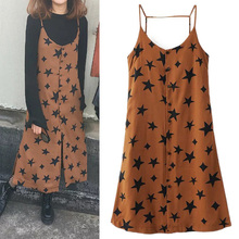 spring and summer 2017 European style dress all-match female stars wearing sundresses stacked thin backless midi