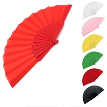 Wedding Party Hand Fan Summer Mini Favor Gift Handmade Fabric Chinese Folding