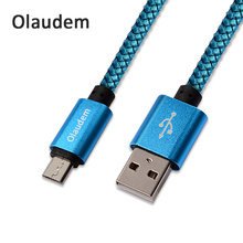 Olaudem Mobile Phone Cables Android Micro USB Cable Fast Charging Nylon Braided Cable 1M Micro USB Data Cable CB028