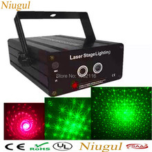 RG 2 Lens 24/48 Patterns Mixing Laser Projector Stage Lighting Effect red green LED Stage Lights Show Disco DJ Party Lighting(China)