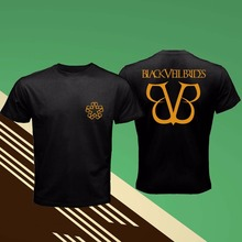 100% Cotton Short Sleeve O-Neck Tops Tee Shirts New Black Veil Brides American Rock Band Front Back Logo Funny T Shirts