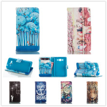 Beautiful scenery tiger Flip Leather Wallet Book Style Case For Samsung GALAXY Grand Prime G530 G530W G531H G531F phone case
